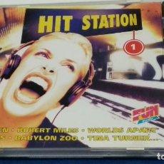 CDs de Música: CD ( HIT STATION 1 )1996 EMI FRANCIA - ELECTRONIC, HIP HOP, ROCK, POP PROBADO BIEN CUIDADO. Lote 284662813