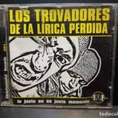 CDs de Música: LOS TROVADORES DE LA LÍRICA PERDIDA LO JUSTO EN JUSTO MOMENTO CD ALBUM [HIP HOP / RAP] PEPETO. Lote 284666558