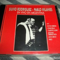 CDs de Musique: SILVIO RODRIGUEZ-PABLO MILANES-EN VIVO EN ARGENTINA-CD AÑO 2000. Lote 285550543