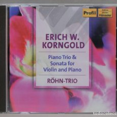 CD de Música: CD. KORNGOLD. RÖHN-TRIO. PIANO TRIO & SONATA FOR VIOLIN AND PIANO. Lote 285761903