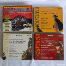 CDs de Música: 4 CAJAS ZARZUELA, 6 CDS, LIBRETOS. Lote 285764078