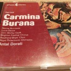 CDs de Musique: CARL ORFF CARMINA BURANA - MÚSICA CLÁSICA. Lote 285807303