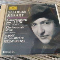 CDs de Música: MOZART,CLARA HASKIL,RUDOLF BAUMGARTNER,FERENC FRICSAY–KLAVIERKONZERTE NOS.13 & 20..CD. Lote 285973658