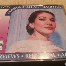 CDs de Musique: MARÍA CALLAS - RARITIES - 3 CD - MÚSICA CLÁSICA. Lote 286197583