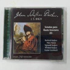 CDs de Música: JOHANN SEBASTIAN BACH. SONATAS PARA FLAUTA TRAVESERA II. CD. TDKCD43. Lote 286700163