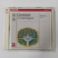 CDs de Música: GEMINIANI 12 CONCERTI GROSSI. CLASSICS PHILIPS. DOBLE CD. TDKCD45. Lote 286711108