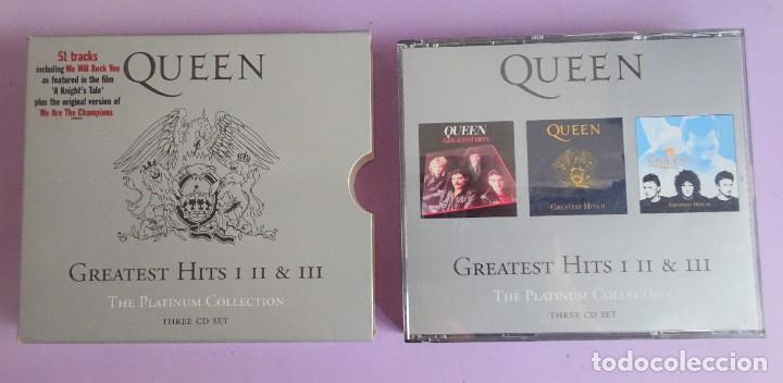 CDs de Música: 3 CD´S QUEEN , GREATEST HITS I II & III THE PLATINUM COLLECTION - Foto 2 - 286719933