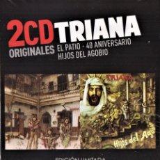 CDs de Música: TRIANA 2 CDS EL PATIO 40 ANIVERSARIO HIJOS DEL AGOBIO NUEVO PRECINTADO. Lote 286744973