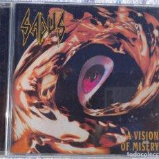 CDs de Música: SADUS – VISION OF MISERY, CD + DVD (DISPLEASED RECORDS, 2007) /// ATHEIST CORONER KREATOR POSSESSED. Lote 287028018