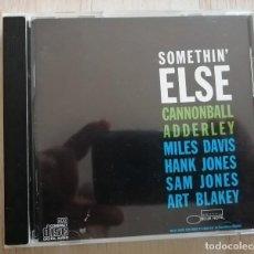 CDs de Música: CANNONBALL ADDERLEY SOMETHIN' ELSE MILES DAVIS+HANK JONES+SAM JONES+ART BLAKEY CD 1999 USA. Lote 287144858