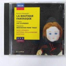 CDs de Música: LA BOUTIQUE FANTASTIQUE. ROSSINI. RESPIGHI. CHOPIN. LES SYLPHIDES. CD. TDKCD46. Lote 287323688