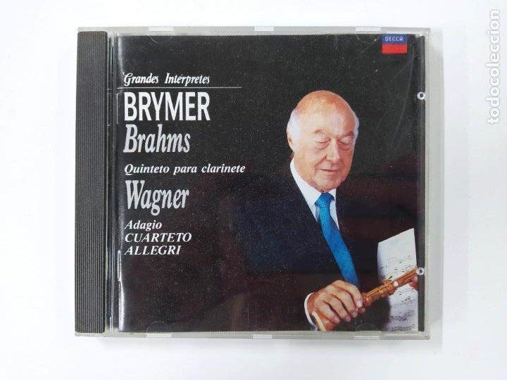 GRANDES INTERPRETES BRYMER. BRAHMS. QUINTETO PARA CLARINETE. WAGNER. ADAGIO. CD. TDKCD46 (Música - CD's Clásica, Ópera, Zarzuela y Marchas)