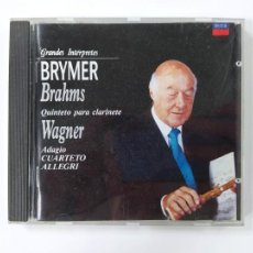 CDs de Música: GRANDES INTERPRETES BRYMER. BRAHMS. QUINTETO PARA CLARINETE. WAGNER. ADAGIO. CD. TDKCD46. Lote 287326433