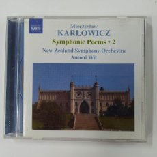 CDs de Música: MIECZYSLAW KARLOWICZ. SYMPHONIC POEMS 2. NEW ZEALAND ORCHESTRA. ANTONI WIT. CD. TDKCD48. Lote 287338483