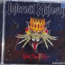 CDs de Música: INFERNÄL MÄJESTY – NONE SHALL DEFY (DISPLEASED RECORDS 1996) // SLAUGHTER POSSESSED DARK ANGEL SADUS. Lote 287364148