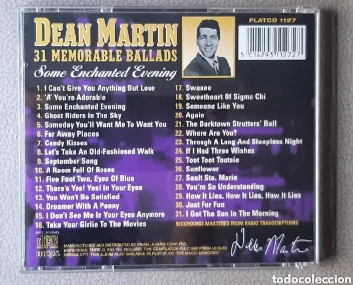 CDs de Música: CD de DEAN MARTIN. LEER BIEN LA DESCRIPCIÓN Y CONDICIONES ANTES DE PUJAR O COMPRAR. - Foto 2 - 287642603