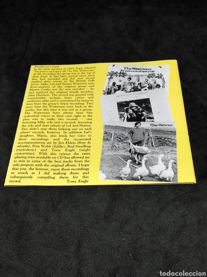 CDs de Música: THE WATERSONS - FOR PENCE AND SPICY ALE - 1993 1975 1977 - CD - DISCO VERIFICADO - MARTIN CARTHY - Foto 4 - 287681278