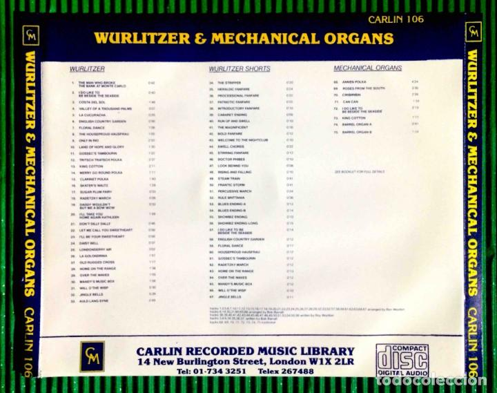 CDs de Música: Nicholas Martin – Wurlitzer & Mechanical Organ Carlin Recorded Music Library - Foto 2 - 287705113