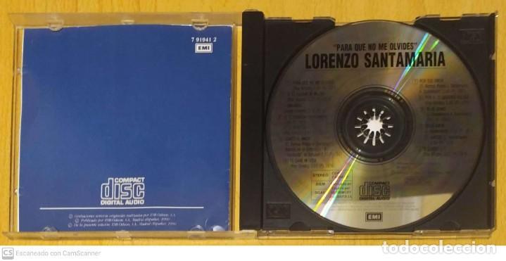 CDs de Música: LORENZO SANTAMARIA (PARA QUE NO ME OLVIDES) CD 1990 - Foto 3 - 287731768