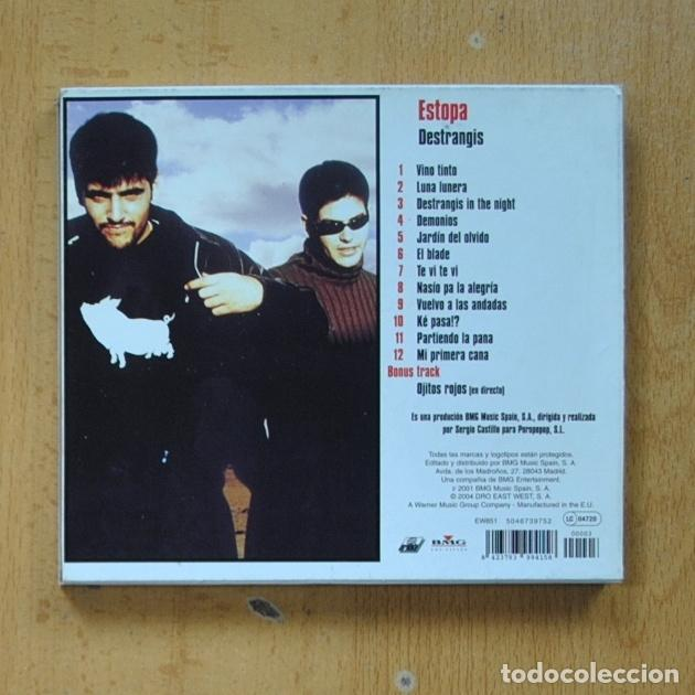 CDs de Música: ESTOPA - DESTRANGIS - CD - Foto 2 - 287731818