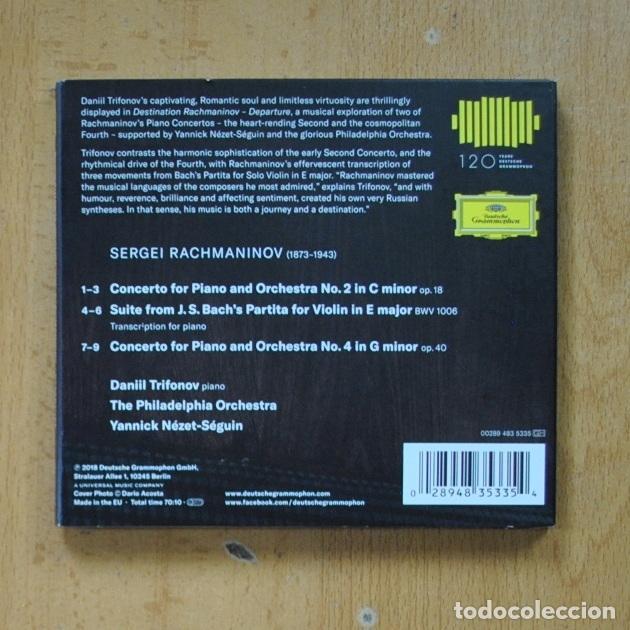 CDs de Música: DANIIL TRIFONOV - DESTINATION RACHMANINOV DEPARTURE - CD - Foto 2 - 287731873