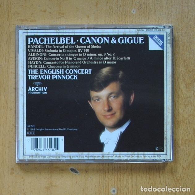 CDs de Música: PACHEBEL / CANON & GIGUE - THE ENGLISH CONCERT TREVOR PINNOCK - CD - Foto 2 - 287731883