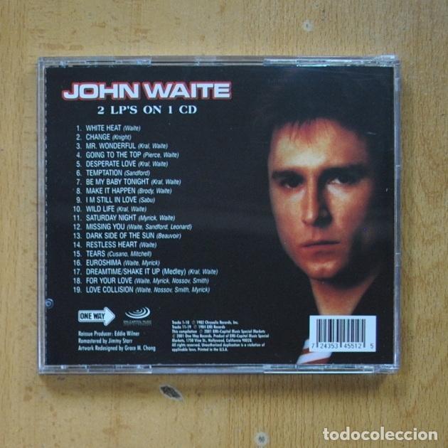 CDs de Música: JOHN WAITE - IGNITION / NO BRAKES - CD - Foto 2 - 287731928
