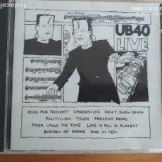 CDs de Música: CD UB40 - LIVE (HX). Lote 287814103