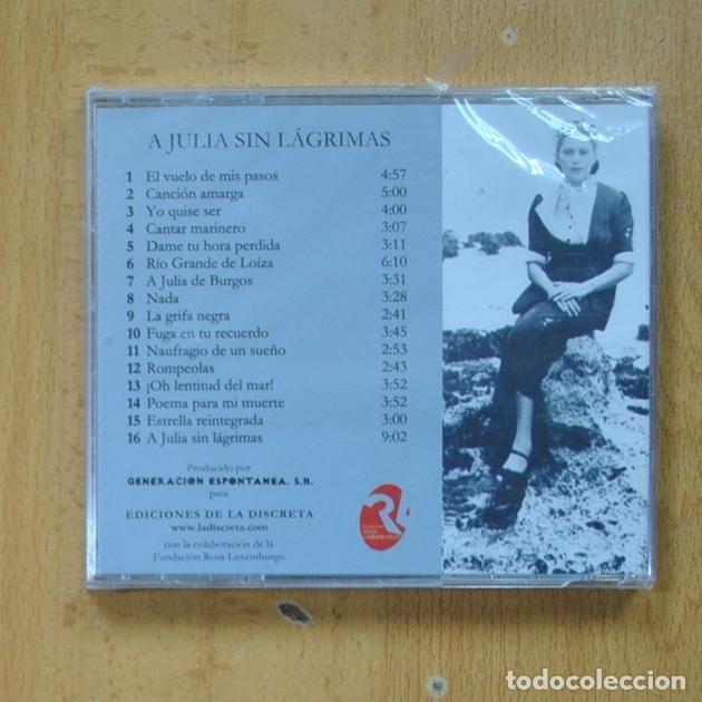 CDs de Música: LA DISCRETA ACADEMIA - A JULIA SIN LAGRIMAS - CD - Foto 2 - 287835483