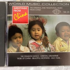 CDs de Música: GREETING FROM CHINA (WORLD MUSIC COLLECTION, VOL. 23) (CD, COMP) (1995). Lote 287838083