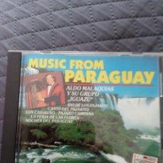 "CDs de Música: CD ALDO MALAQUIAS Y SU GRUPO IGUAZU "" MUSIC FROM PARAGUAY "". Lote 287843773"