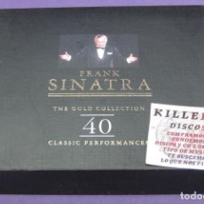 CDs de Música: FRANK SINATRA - THE GOLD COLLECTION - 40 CLASSIC PERFORMANCES - 2X CD. Lote 287855488