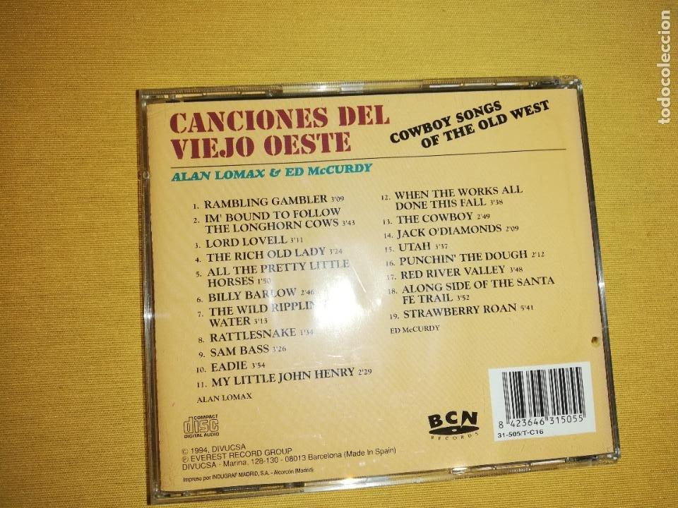 CDs de Música: Canciones del viejo oeste(cowboy songs of the old west) - Alan lomax & ed mccurdy - Foto 2 - 287901818