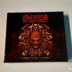 CDs de Música: 0921 - KREATOR - HORDES OF CHAOS - ULTRA RIOT // BOX, LTD, RE + CD, ALBUM, ENH + CD. Lote 287979273