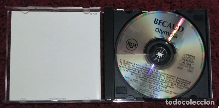CDs de Música: GILBERT BECAUD (OLYMPIA) CD 1991 - Foto 3 - 287993613