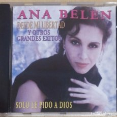 CDs de Música: ANA BELEN (SOLO LE PIDO A DIOS - DESDE MI LIBERTAD Y OTROS GRANDES EXITOS) CD 2001. Lote 288004838
