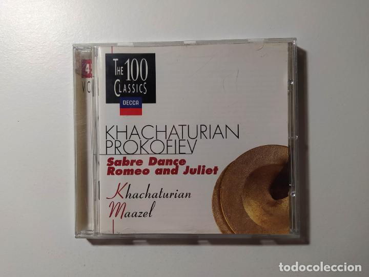 KHACHATURIAN PROKOFIEV. SABRE DANCE. ROMEO AND JULIET. CD. MAAZEL. THE 100 CLASSICS VOL 45 TDKCD55 (Música - CD's Clásica, Ópera, Zarzuela y Marchas)