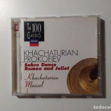 CDs de Música: KHACHATURIAN PROKOFIEV. SABRE DANCE. ROMEO AND JULIET. CD. MAAZEL. THE 100 CLASSICS VOL 45 TDKCD55. Lote 288008358