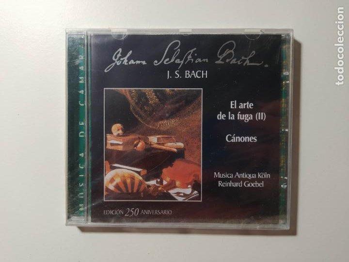 JOHANN SEBASTIAN BACH. EL ARTE DE LA FUGA II. CANONES. REINHARD GOEBEL. CD. NUEVO. TDKCD55 (Música - CD's Clásica, Ópera, Zarzuela y Marchas)