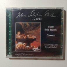 CDs de Música: JOHANN SEBASTIAN BACH. EL ARTE DE LA FUGA II. CANONES. REINHARD GOEBEL. CD. NUEVO. TDKCD55. Lote 288010568