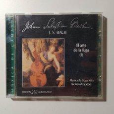 CDs de Música: JOHANN SEBASTIAN BACH. EL ARTE DE LA FUGA I. CANONES. REINHARD GOEBEL. CD. NUEVO. TDKCD55. Lote 288010768