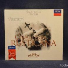 CDs de Música: PIETRO MASCAGNI, TEBALDI, BJÖRLING, RINA CORSI, BASTIANINI, LUCIA DANI - CAVALLERIA RUSTICANA - CD. Lote 288011253