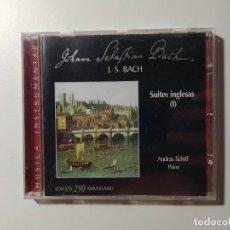 CDs de Música: JOHANN SEBASTIAN BACH. SUITES INGLESAS I. ANDREAS SCHIFF. CD. TDKCD56. Lote 288011573
