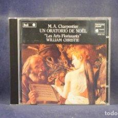 """CDs de Música: M. A. CHARPENTIER - """"LES ARTS FLORISSANTS"""" / WILLIAM CHRISTIE - UN ORATORIO DE NOËL - CD. Lote 288011618"""