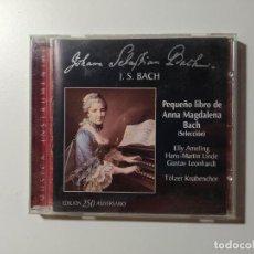 CDs de Música: JOHANN SEBASTIAN BACH. PEQUEÑO LIBRO DE ANNA MAGDALENA. TOLZER KNABENCHOR. CD. TDKCD56. Lote 288011713