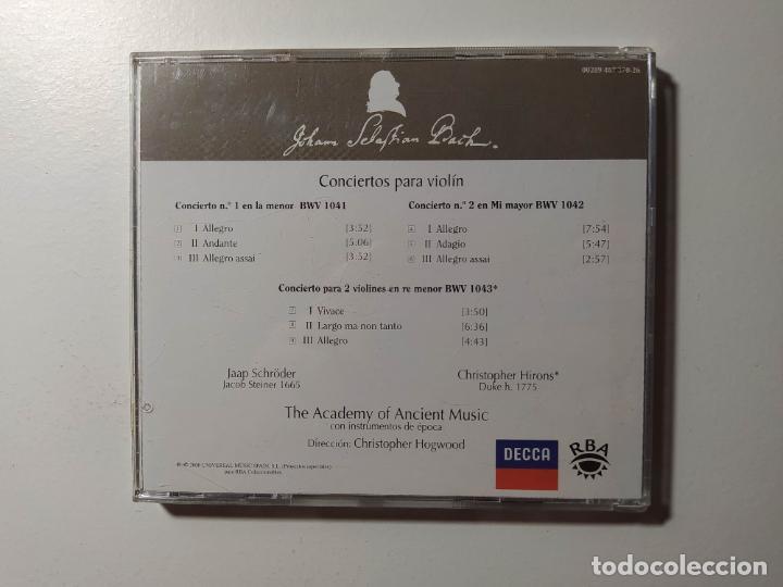 CDs de Música: JOHANN SEBASTIAN BACH - CONCIERTOS PARA VIOLIN Y CUERDAS. CHRISTOPHER HOGWOOD. CD. TDKCD56 - Foto 3 - 288011908