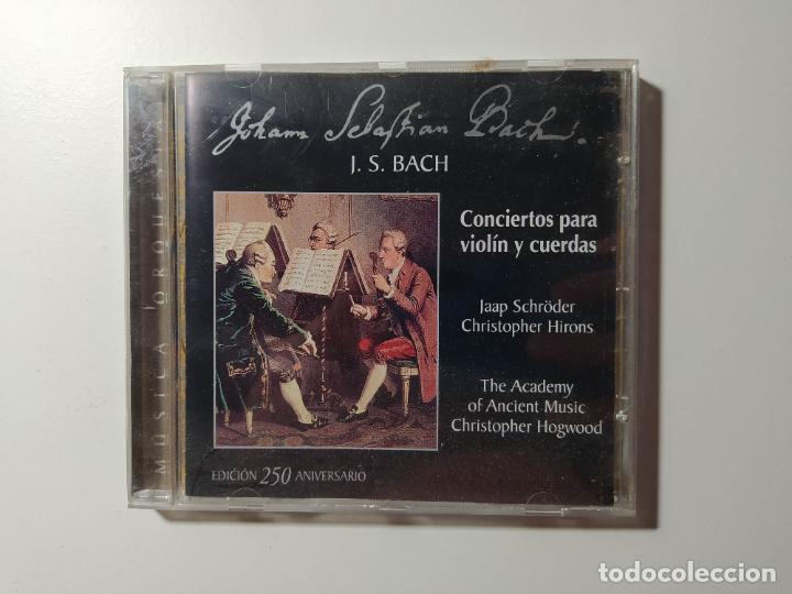 JOHANN SEBASTIAN BACH - CONCIERTOS PARA VIOLIN Y CUERDAS. CHRISTOPHER HOGWOOD. CD. TDKCD56 (Música - CD's Clásica, Ópera, Zarzuela y Marchas)