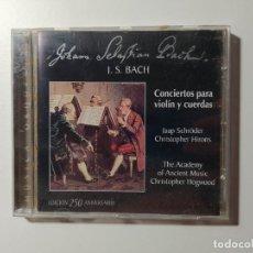 CDs de Música: JOHANN SEBASTIAN BACH - CONCIERTOS PARA VIOLIN Y CUERDAS. CHRISTOPHER HOGWOOD. CD. TDKCD56. Lote 288011908