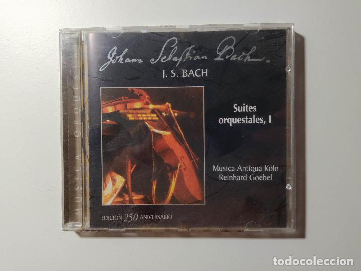 JOHANN SEBASTIAN BACH - SUITES ORQUESTALES I, REINHARD GOEBEL. MUSICA ANTIQUA KOLN. CD. TDKCD56 (Música - CD's Clásica, Ópera, Zarzuela y Marchas)