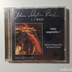 CDs de Música: JOHANN SEBASTIAN BACH - SUITES ORQUESTALES I, REINHARD GOEBEL. MUSICA ANTIQUA KOLN. CD. TDKCD56. Lote 288012163